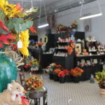 INterior of Millard Floral shop showing flowers